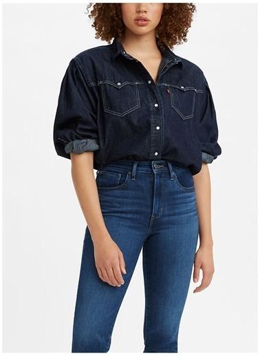 Levi's® Levis Kadın Koyu Mavi Gömlek Mavi